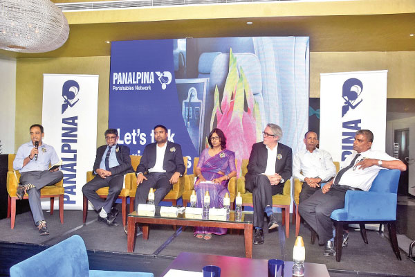 The panelists at the event