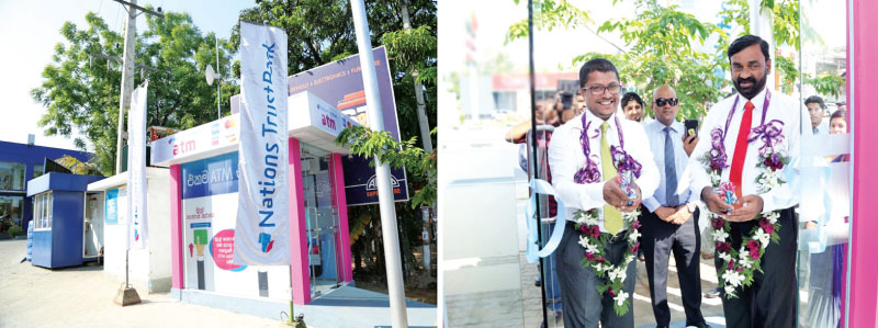 Chief Guest – Chamath Munasinghe, Senior Vice President – Banking Operations, Nations Trust Bank and (Right) Guest of honour – Dias Rathnayake, Chairman, Asliya Travels at the opening.