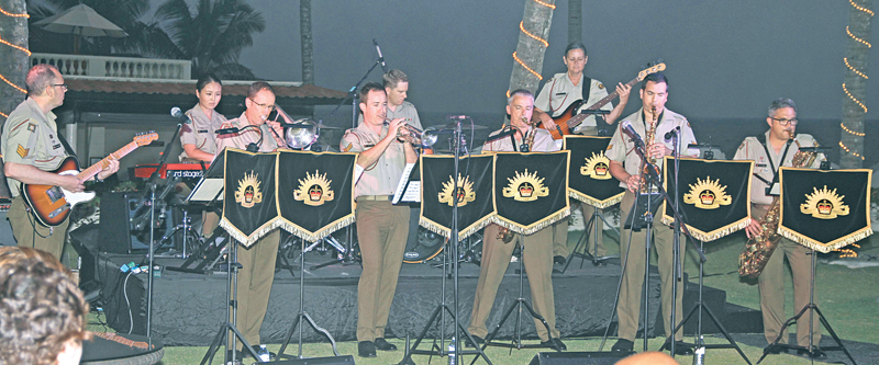 The band playing in full swing