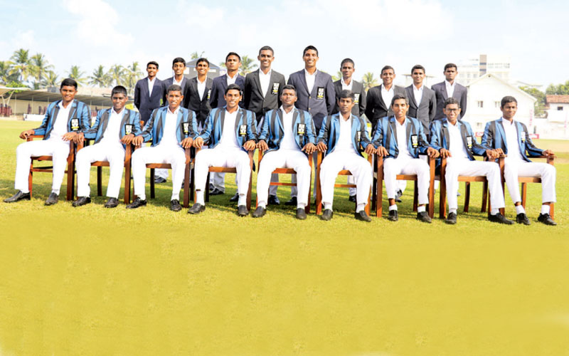 S Thomas' College cricket team that emerged champions after 17 years.