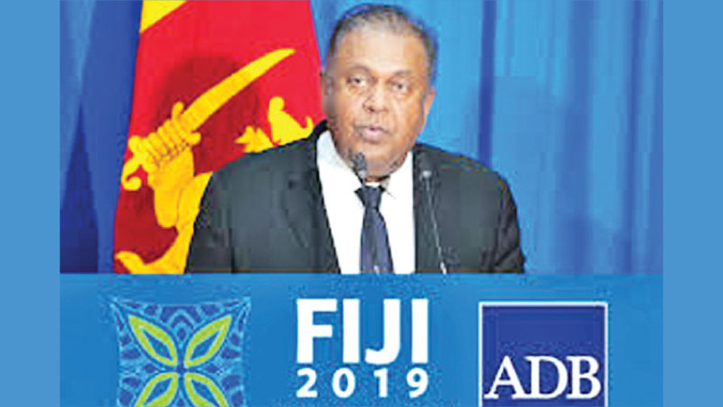 Minister of Finance Mangala Samaraweera in Fiji