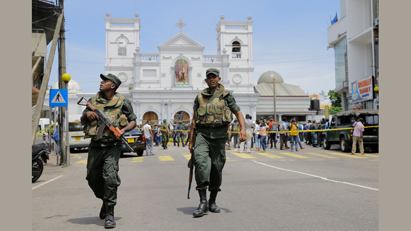Security beefed-up after Easter Sunday bombings.