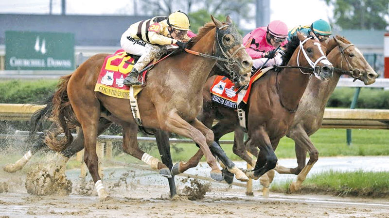 Country House winning the Kentucky Derby.
