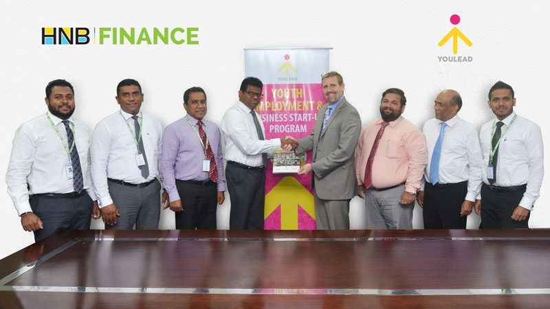 United States Agency for International Development funded YouLead initiative officials exchanges the partnership with HNBA Finance Officials.