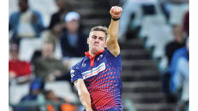 Fast bowler Anrich Nortje