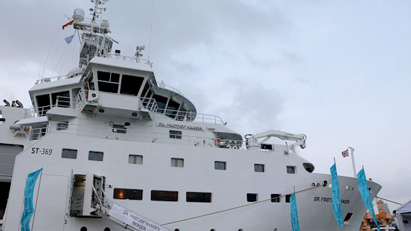 The Norwegian Research Vessel Dr. Fridtjof Nansen during its visit to Sri Lanka in 2018