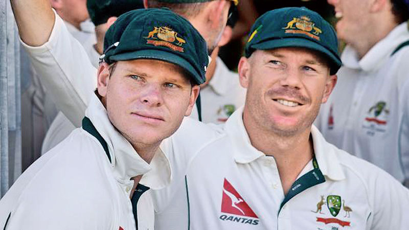 Australian ball tampering the principal actors – Smith and Warner.