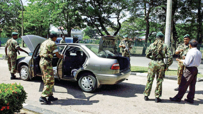 High security alert following the Easter Sunday bombings.