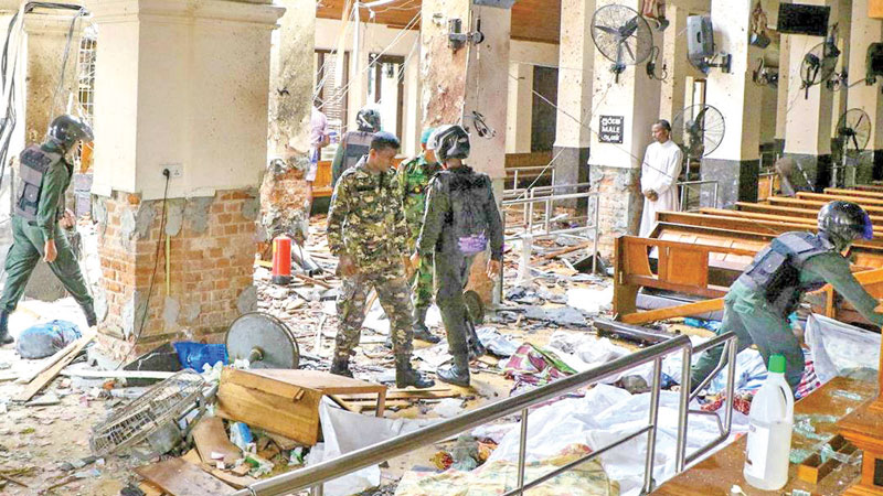 Destruction caused by the Easter Sunday terrorist bombings.