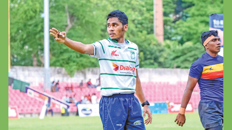 Aaqil Jamaldeen never thought of refereeing after he quit playing rugby.