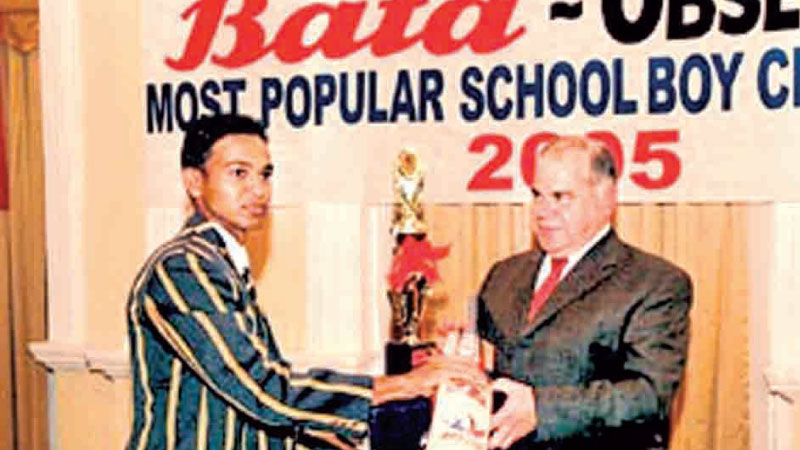 Lahiru Peiris of St. Peter's College, won the Most Popular Schoolboy Cricketer Award in 2004 and 2005