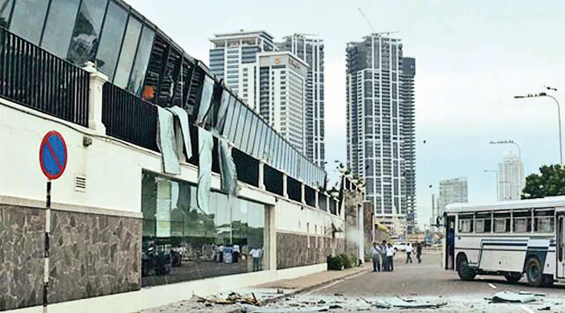 Shangri La Hotel after the Easter Sunday terrorist attack (File Photo)