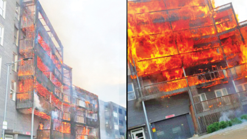 The apartment fire in Barking.
