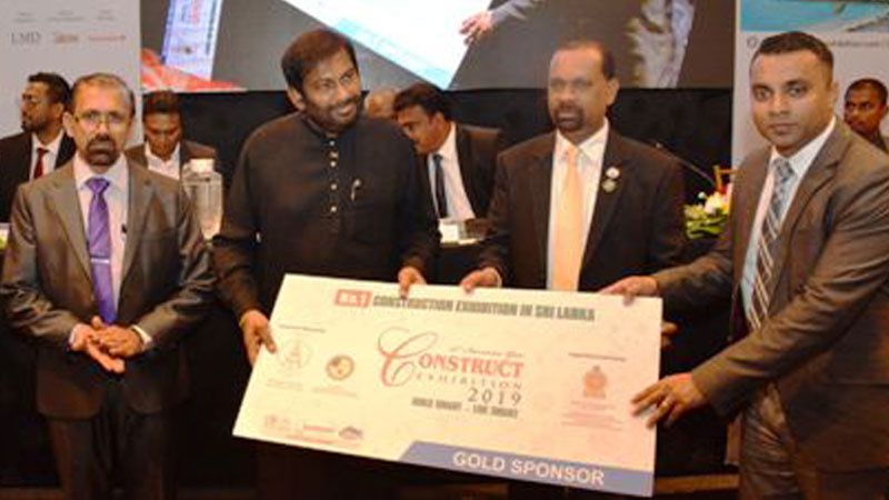 The Gold sponsorship  being handed over to Minister Daya Gamage.