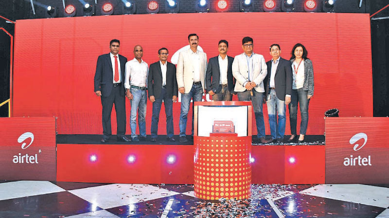 Airtel officials at the launch in Colombo