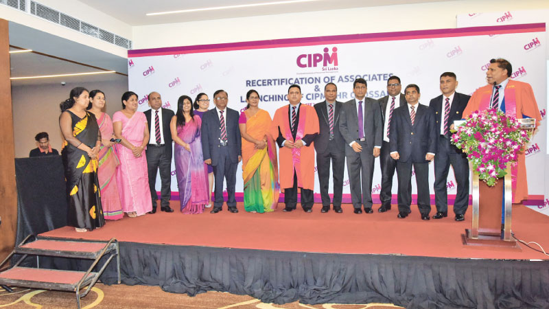 Secretary of CIPM Council Ken Vijekumar and Chairman of the Standing Committee on Member Services & Events and Asst. Treasurer of the Council Jayantha Abeyratne with the committee members