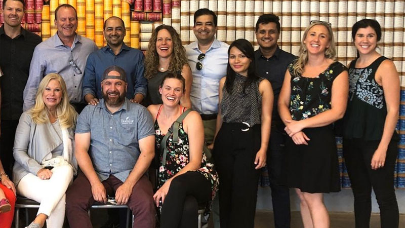 MTI's  Consultants Jananga Piyadasa (from Sri Lanka) and Darshana Buragohain  (from India) with the Teatulia USA & Gemcon Team at the  Imple-mentoring Review Sessions in Denver, Colorado