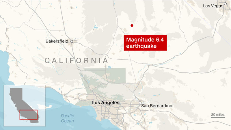 California earthquake generates over 100 aftershocks   Daily