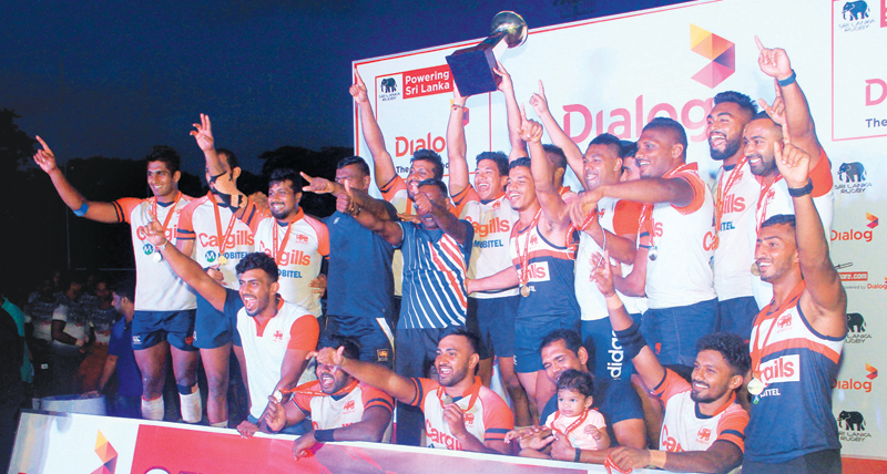 Kandy SC savouring another triumph in domestic rugby. (Picture by Sudam Gunasinghe)