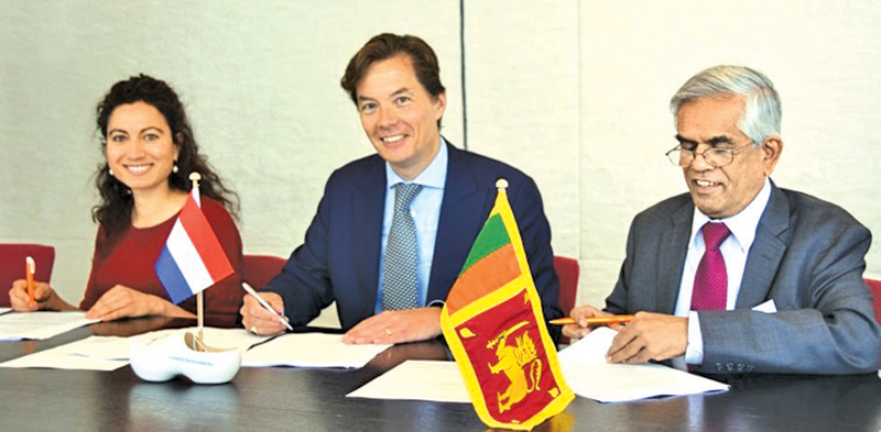 The financing agreement was signed by  Finance Ministry Secretary Dr. R. H. S. Samaratunga and Willem van Nouhuys and Chloe  Ajamlou of ING Bank NV. Sri Lanka's Ambassador in the Netherlands, Sumith Nakandala and Netherlands Ambassador in Sri Lanka Joanne Doornewaard, at the Netherlands  Enterprise Agency in the Hague.