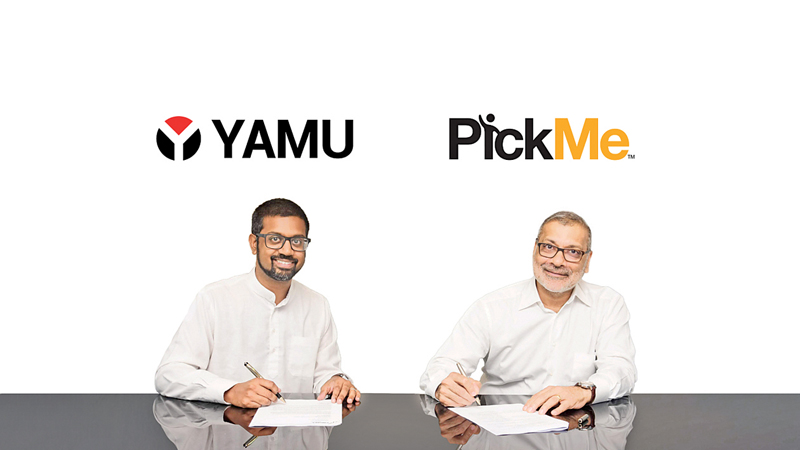 Indi Samarajiva, Founde, YAMU and  Ajit Gunewardene, Founder Chairman, PickMe