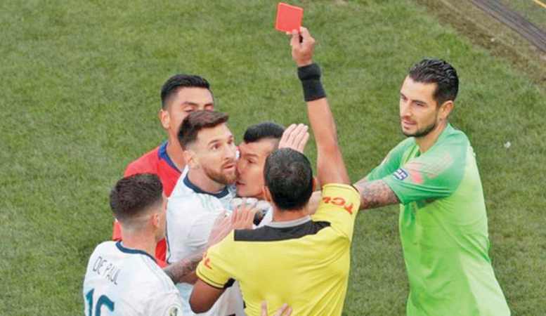 Messi and Argentina repeatedly criticised the refereeing at the Copa America and the use of VAR
