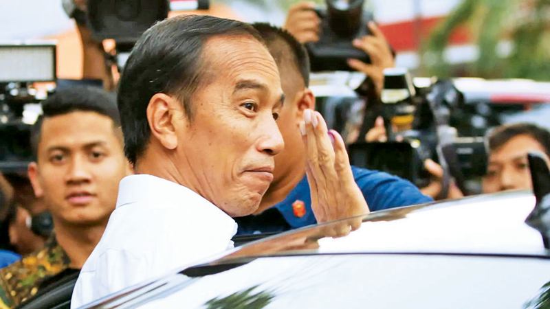 Joko Widodo, who won a second term as Indonesia's president in April, is preparing measures to help boost the country's human capital. (Photo by Kosaku Mimura)