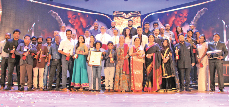 Signis award winners on stage
