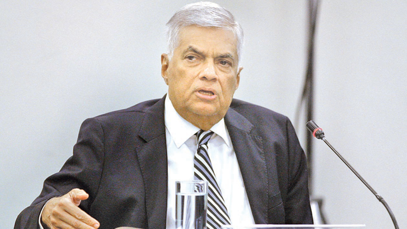 Prime Minister Ranil Wickremesinghe at yesterday's PSC hearing. Pictures by Hirantha Gunathillake