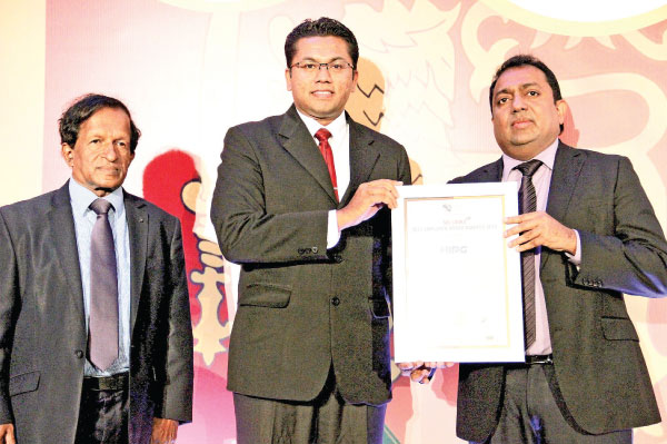 GM of HR Jeevan Premasara accepting the award on behalf of HIPG