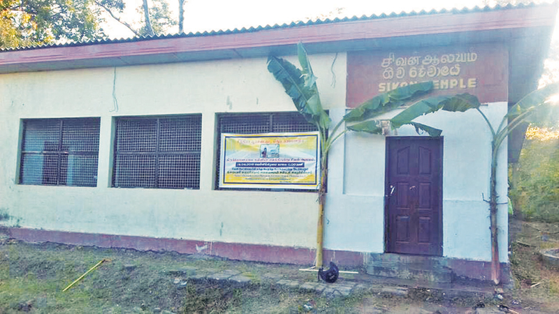 The building in question. Picture by A.T.M. Gunananda, Trincomalee Special Corr.