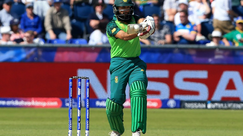 Amla scored an unbeaten 80 in his final international appearance against Sri Lanka at the World Cup. - AFP