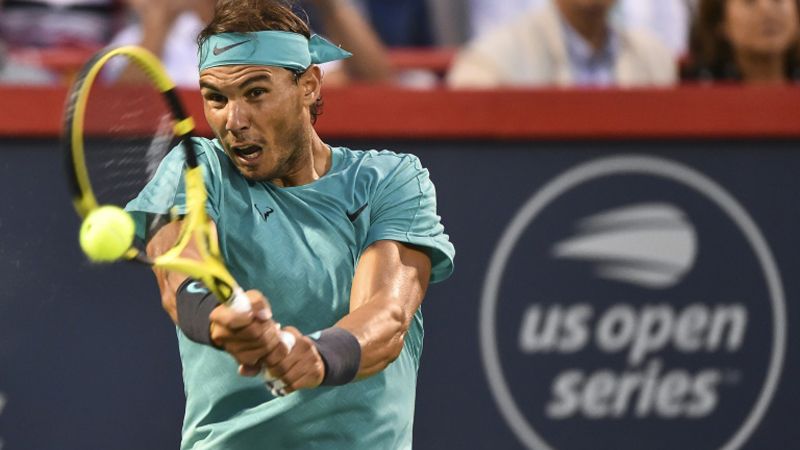 Defending champion and top seed Rafael Nadal of Spain beat Argentina's Guido Pella on Thursday to reach the ATP Montreal quarter-finals. - AFP