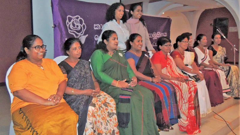 The officials of the Women and Media Collective (WMC) along with several Local Government Councilors in the Workshop.  Picture by Mahinda P.Liyanage- Galle Central Special Correspondent
