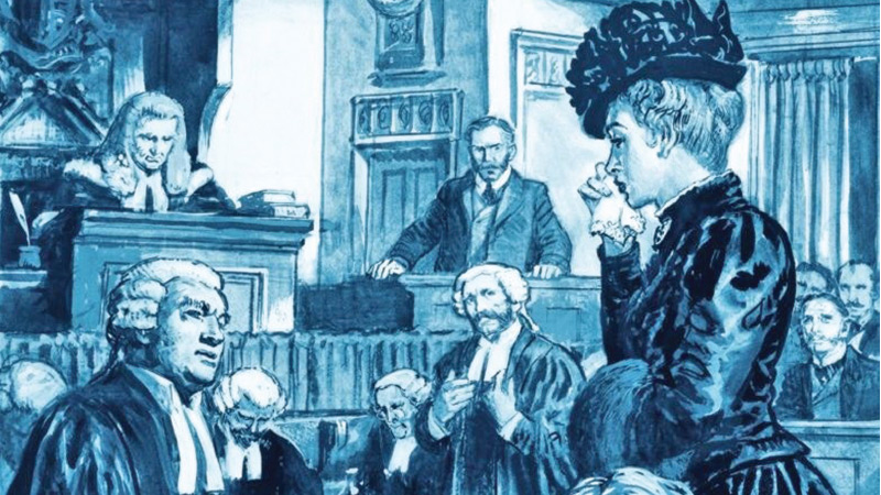The trial of Madeleine Smith from Look and Learn, 1974