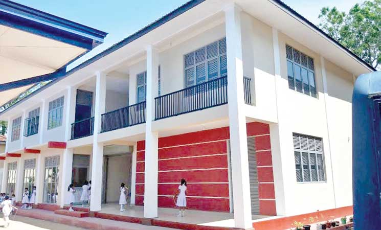 One of the newly-constructed buildings. Picture by I.L.M. Rizan, Addalaichenai Central Corr.