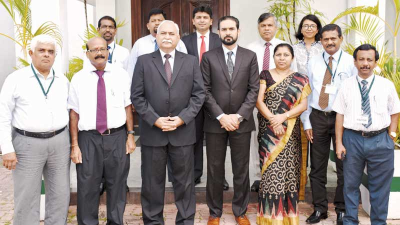 Members of the Sri Lankan delegation that woill be visiting Pakistan paid a courtesy call on the High Commissioner of Pakistan, Maj. Gen. (Retd) Dr. Shahid Ahmad Hashmat yesterday.