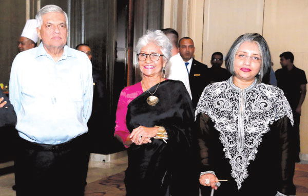 Anoma with Prime Minister Ranil Wickremesinghe and Prof. Maithree Wickremesinghe