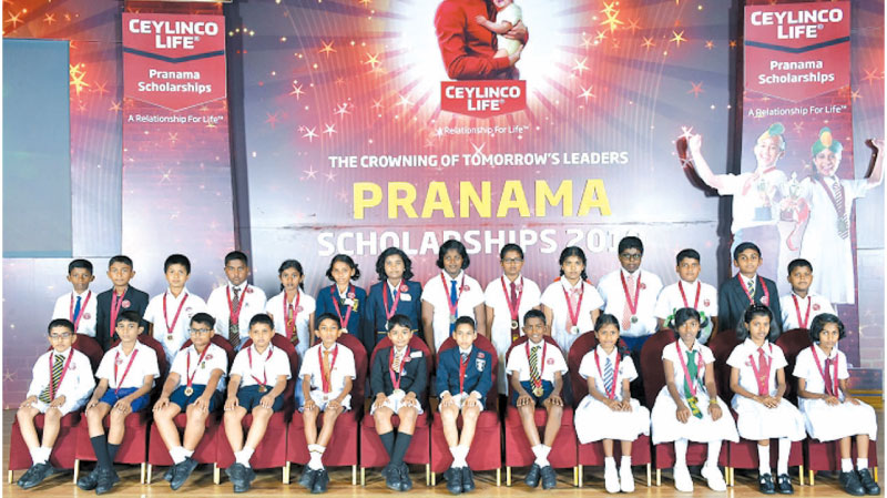 Year 5 scholarship winners from the last batch of Pranama beneficiaries