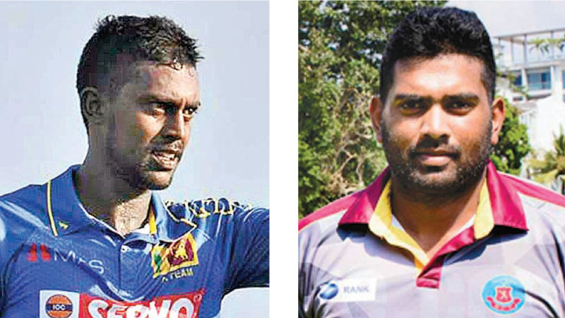Uncapped players Minod Bhanuka and Bhanuka Rajapaksa
