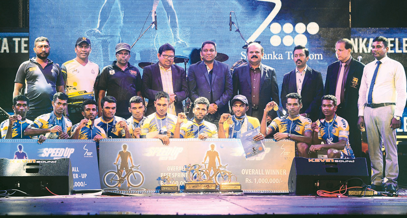 Winners with officials and guests