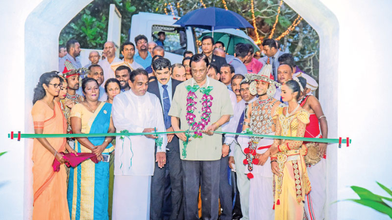 Minister of Tourism John Amaratunge and other officials reopen the Bentota National Holiday Resort