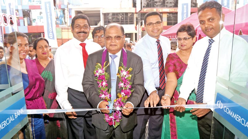 Commercial Bank Chairman Dharma Dheerasinghe opens the new branch.