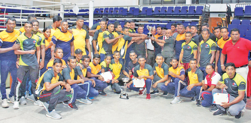 The champion Army team with the Clifford Cup
