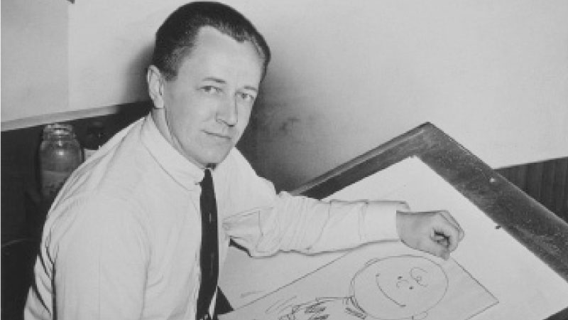 Charles M. Schulz. Photo: Roger Higgins for the New York World-Telegram and Sun.