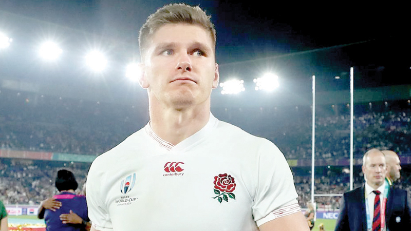 England's inside-centre Owen Farrell proved himself a fearless leader.