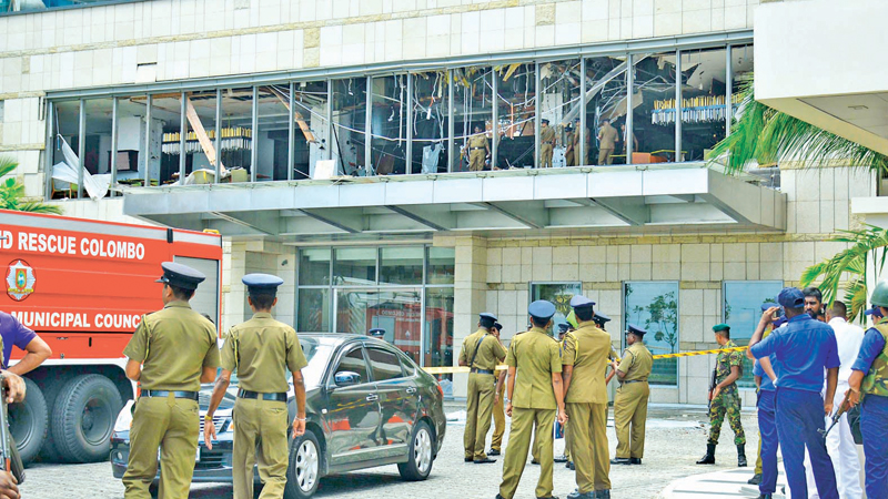 Destruction caused by the Easter Sunday terror attack. Picture by Sudath Malaweera