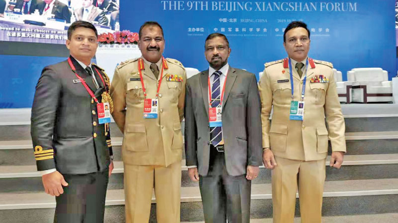 Admiral Prof. Colombage with Sri Lankan Military Delegation at the Beijing Xiangshan forum