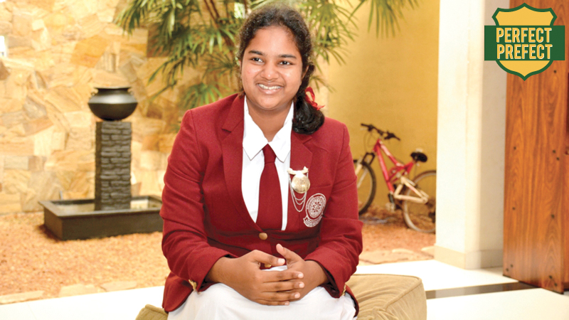 Head Girl of Sri Sumangala  Girls' School, Panadura,  Dimanthi de Mel. Picture by Sarath Peiris