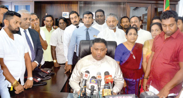 State Minister of Tourism Promotion Arundika Fernando after assuming duties. Picture by Sudath Malaweera